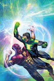 Kyle Rayner fighting Major Force