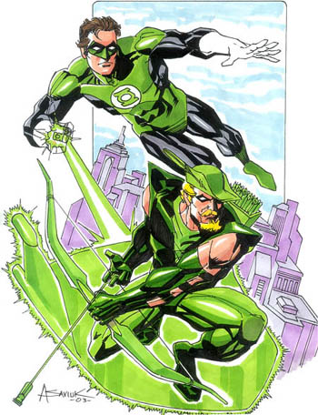 Hal Jordan and Oliver Queen
