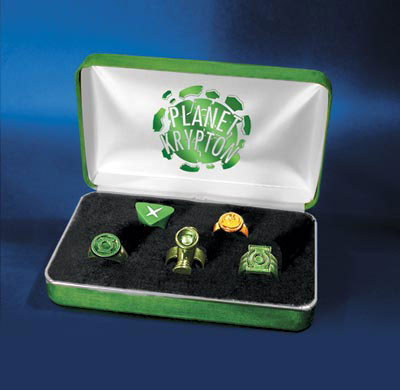 A set of Green Lantern rings!